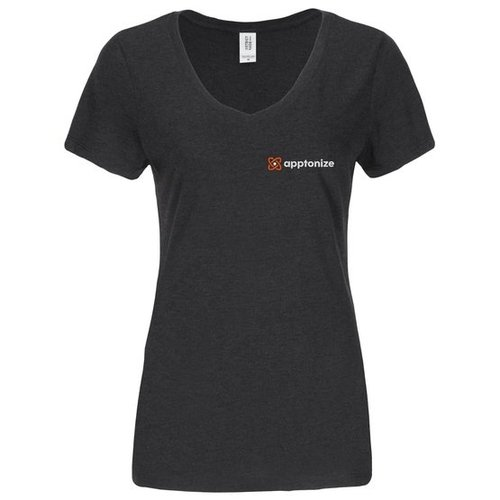 Black District Made® Ladies Perfect Tri® V-Neck T-Shirt