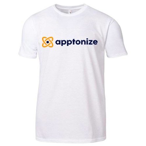 White  Anvil® 4.5-Ounce Ring-Spun Lightweight Men's T-Shirt Screenprint