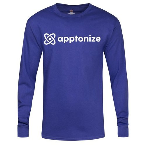 Blue Hanes® Tagless® Long Sleeve T-Shirt