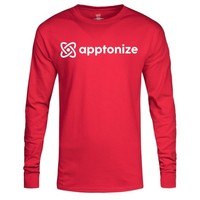 Red Hanes® Tagless® Long Sleeve T-Shirt