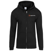 Black Gildan® Heavy Blend™ Full-Zip Hooded Sweatshirt