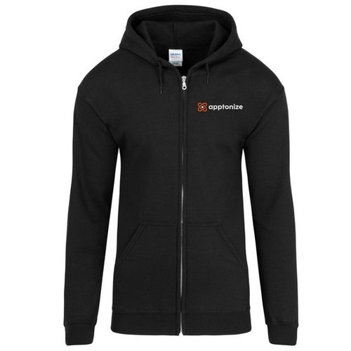 Black Gildan® Heavy Blend™ Full-Zip Hooded Sweatshirt