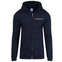 Navy Gildan® Heavy Blend™ Full-Zip Hooded Sweatshirt