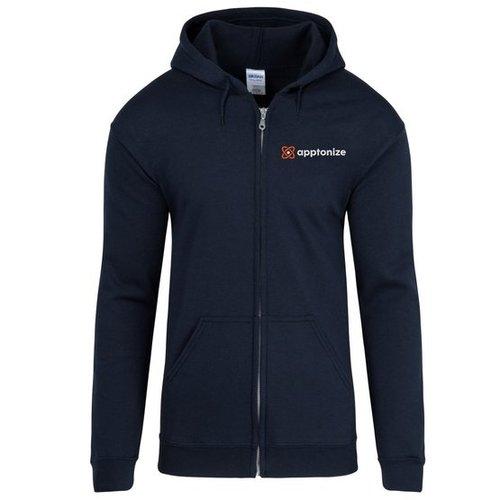 Navy Gildan® Heavy Blend™ Full-Zip Hooded Sweatshirt