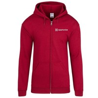 Red Gildan® Heavy Blend™ Full-Zip Hooded Sweatshirt
