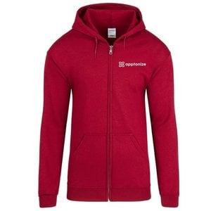 Red Gildan® Heavy Blend™ Full-Zip Hooded Sweatshirt