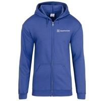 Blue Gildan® Heavy Blend™ Full-Zip Hooded Sweatshirt