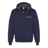 Navy Fruit of the Loom® SofSpun Hooded Full-Zip Sweatshirt