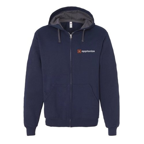 Navy Fruit of the Loom® SofSpun Hooded Full-Zip Sweatshirt