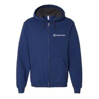 Blue Fruit of the Loom® SofSpun Hooded Full-Zip Sweatshirt