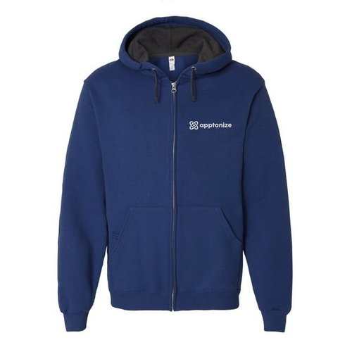 Blue Fruit of the Loom® SofSpun Hooded Full-Zip Sweatshirt