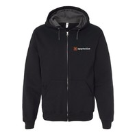 Black Fruit of the Loom® SofSpun Hooded Full-Zip Sweatshirt
