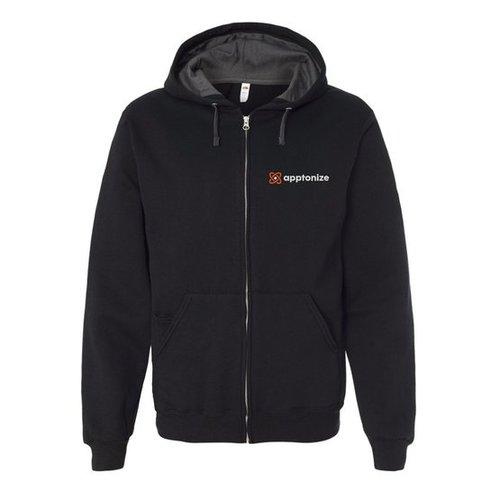 Black Fruit of the Loom® SofSpun Hooded Full-Zip Sweatshirt