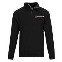 Black JERZEES® NuBlend® Quarter-Zip Cadet Collar Sweatshirt