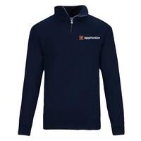 Navy JERZEES® NuBlend® Quarter-Zip Cadet Collar Sweatshirt