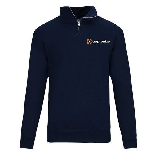 Navy JERZEES® NuBlend® Quarter-Zip Cadet Collar Sweatshirt