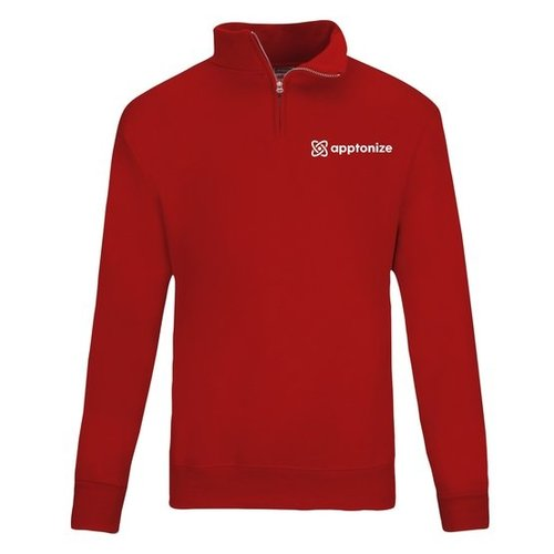 Red JERZEES® NuBlend® Quarter-Zip Cadet Collar Sweatshirt