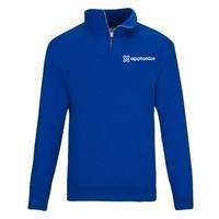 Blue JERZEES® NuBlend® Quarter-Zip Cadet Collar Sweatshirt