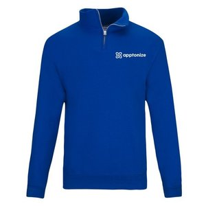 Blue JERZEES® NuBlend® Quarter-Zip Cadet Collar Sweatshirt