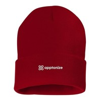 Red Sportsman 12 Inch Solid Knit Beanie