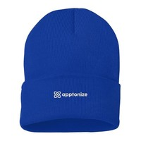 Blue Sportsman 12 Inch Solid Knit Beanie
