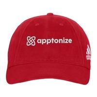 Red adidas® Unstructured Cresting Cap