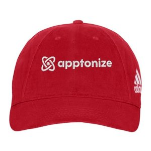 Red adidas® Unstructured Cresting Cap