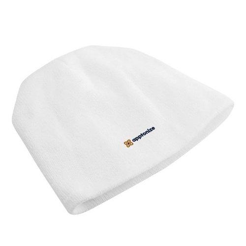 White Port & Company® Fleece-Lined Beanie Cap