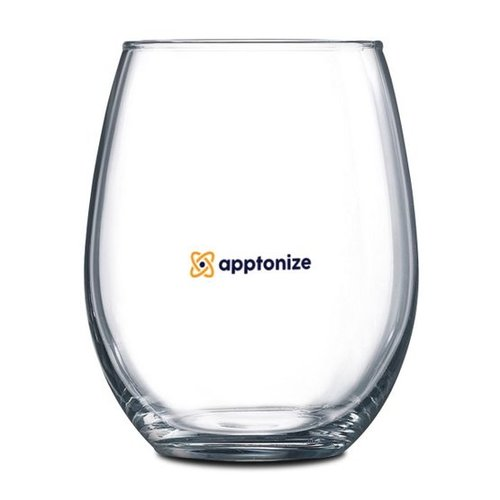 Clear Stemless 2-Piece Red Wine Glass Set