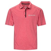 Red Elevate Men's Macta Short Sleeve Polo Shirt