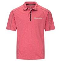 Red Elevate Men's Macta Short Sleeve Polo Shirt