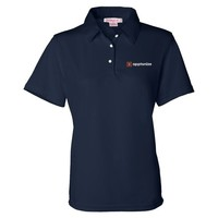Navy FeatherLite Ladies' Moisture Free Mesh Sport Shirt