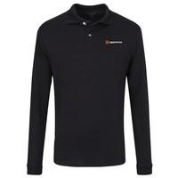 Black JERZEES® SpotShield™ Long Sleeve Jersey Sport Shirt