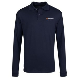 Navy JERZEES® SpotShield™ Long Sleeve Jersey Sport Shirt
