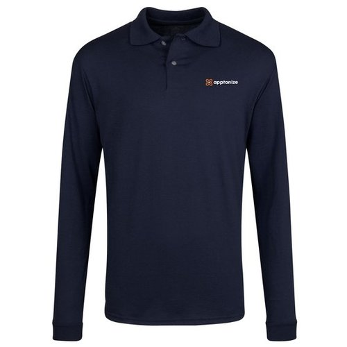Navy JERZEES® SpotShield™ Long Sleeve Jersey Sport Shirt