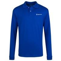 Blue JERZEES® SpotShield™ Long Sleeve Jersey Sport Shirt