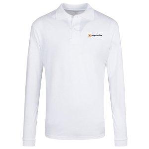 White JERZEES® SpotShield™ Long Sleeve Jersey Sport Shirt