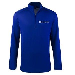 Blue Port Authority® Pinpoint Mesh 1/2-Zip