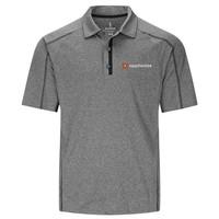 Heather Dark - Black Charcoal Elevate Men's Macta Short Sleeve Polo Shirt