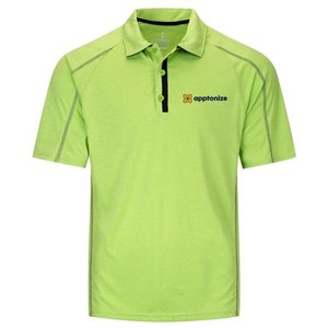 Apple Green Elevate Men's Macta Short Sleeve Polo Shirt