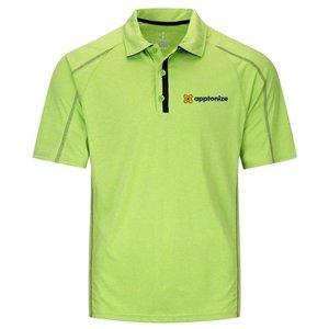 Apple Green Elevate Men's Macta Short Sleeve Polo Shirt