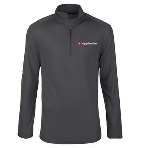 Gray Port Authority® Pinpoint Mesh 1/2-Zip