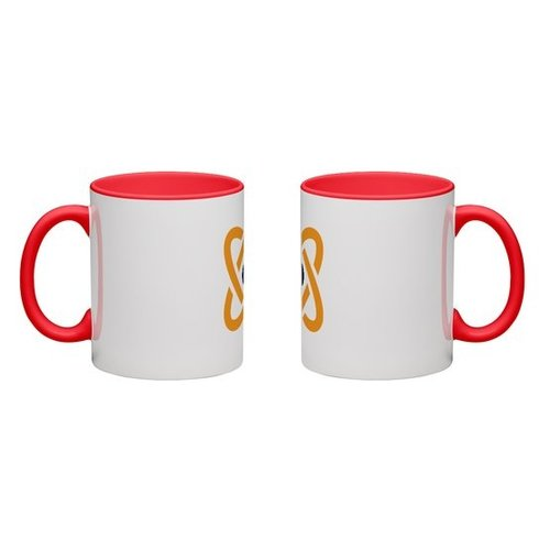 Red Colored Mug Full Color Wrap Print