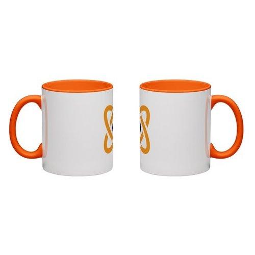 Orange Colored Mug Full Color Wrap Print