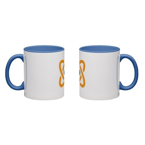 Blue Colored Mug Full Color Wrap Print