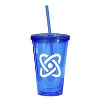 Blue 16-oz. Tumbler with Cap & Straw