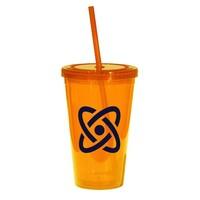 Orange  16-oz. Tumbler with Cap & Straw