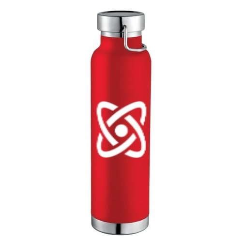 Red 22oz Thor Copper Vacuum Insulated Bottle with Full-Color Wraparound