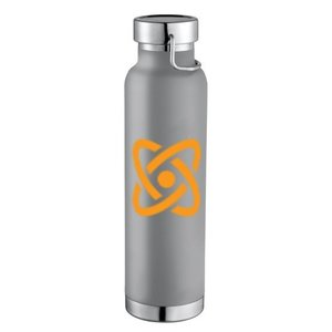 Gray 22oz Thor Copper Vacuum Insulated Bottle with Full-Color Wraparound