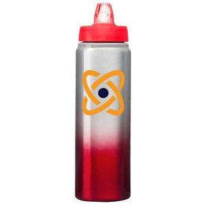 Red 25 oz. Custom Aluminum Bottle with Full-Color Wraparound - Gradient Finish